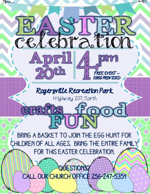 Easter Celebration W Egg Hunt April 20th A Biblical Family
